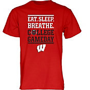 Blue 84 Men's Wisconsin Badgers Red ESPN College Gameday T-Shirt