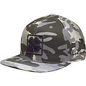 Black Clover Camo Flat Brim Hat