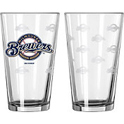 Boelter Milwaukee Brewers 16oz. Satin Etched Pint Glass