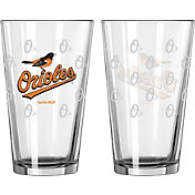 Boelter Baltimore Orioles 16oz. Satin Etched Pint Glass