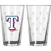 Boelter Texas Rangers 16oz. Satin Etched Pint Glass