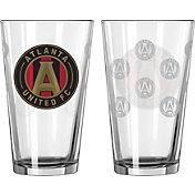 Boelter Atlanta  United 16oz. Satin Etched Pint Glass