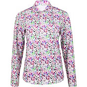 Bette & Court Women's Long Sleeve Print Golf Polo