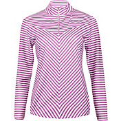 Bette & Court Women's Sunscape Long Sleeve Stripe Mock