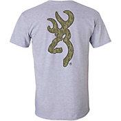 Browning Men's Mossy Oak Bottomland Buckmark T-Shirt