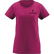 Browning Women's Distressed Black Buckheart T-Shirt