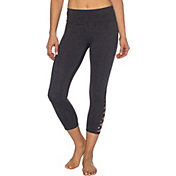 Betsey Johnson Banded Long Cutout Crop Leggings