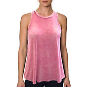 Betsey Johnson Performance Women's  Bleach Wash Tank Top