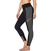 Betsey Johnson Women's Colorblock Metallic Insert 7/8 Leggings
