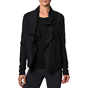 Betsey Johnson Performance Women's Drape Collar Asymmetrical Jacket