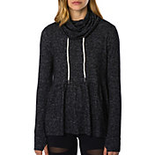 Betsey Johnson Performance Women's Drape Ruffle Hem Hoodie