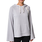 Betsey Johnson Women's Distressed Raglan Lace-Up Hoodie