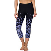 Betsey Johnson Performance Women's Ascending Floral Printed Crop Leggings