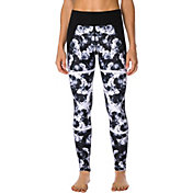 Betsey Johnson Performance Women's Floral X-ray Mesh Ankle Leggings