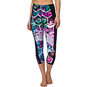 Betsey Johnson Performance Women's Geo Floral Cutout Crop Leggings
