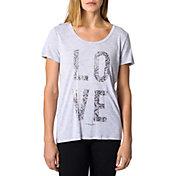 Betsey Johnson Performance Metallic Lace Swing T-Shirt