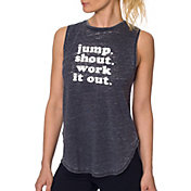 Betsey Johnson Performance Women's Jump Shout Work It Out Muscle Tank Top