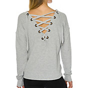 Betsey Johnson Performance Women's Laced Back Crewneck Sweatshirt