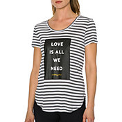 Betsey Johnson Performance Women's All We Need Roll Hem T-Shirt