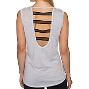 Betsey Johnson Elastic Mesh Muscle Tank Top