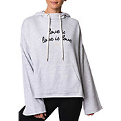 Betsey Johnson Performance Women's Love Is Love Raw Edge Hoodie