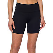 Betsey Johnson Performance Women's Micro X Band Cutout Long Shorts