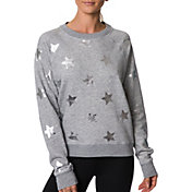 Betsey Johnson Women's Metallic Star Fleece Pullover