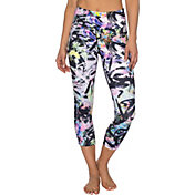 Betsey Johnson Performance Women's Painted Pastel Print Capris Leggings