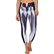 Betsey Johnson Performance Women's Print Insert Banded Cutout Crop Leggings