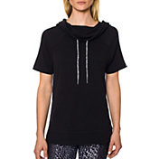 Betsey Johnson Women's Short Sleeve Side Slit Hoodie