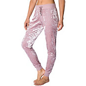 Betsey Johnson Women's Crushed Velvet Skinny Joggers