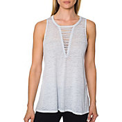 Betsey Johnson Women's Strappy Front Cutout Tank