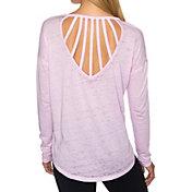 Betsey Johnson Performance Women's Vertical Strap Cutout Long Sleeve Shirt