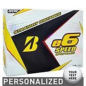 Bridgestone e6 SPEED Optic Yellow Personalized Golf Balls