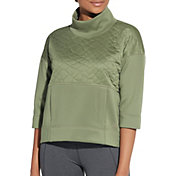 CALIA by Carrie Underwood Women's Cropped Boxy Pullover Sweatshirt