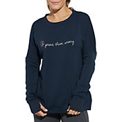 CALIA by Carrie Underwood Women's Prove Them Wrong Graphic Crew Sweatshirt