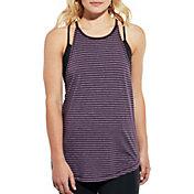 CALIA by Carrie Underwood Women's Flow High Neck Stripe Tank Top