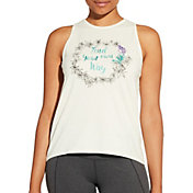 CALIA by Carrie Underwood Women's Flow Loop Back Find Your Own Way Graphic Tank Top