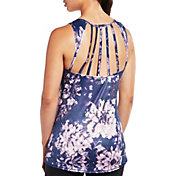 CALIA by Carrie Underwood Women's Move Multi Strap Printed Tank Top