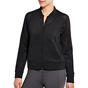 CALIA by Carrie Underwood Women's Mesh Bomber Jacket