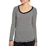 CALIA by Carrie Underwood Women's Everyday Striped Long Sleeve Shirt