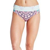 CALIA by Carrie Underwood Women's Foldover Waist Printed Bikini Bottoms