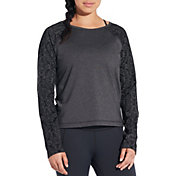 CALIA by Carrie Underwood Women's Limited Edition Onyx Velvet Pieced Sweatshirt