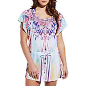 CALIA by Carrie Underwood Women's Kaftan Printed Cover Up