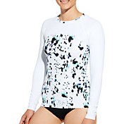 CALIA by Carrie Underwood Women's Printed Long Sleeve Rash Guard