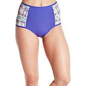 CALIA by Carrie Underwood Women's Ruched High Waist Bikini Bottoms