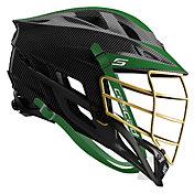 Cascade Custom S Carbon Fiber Lacrosse Helmet w/ Gold Pearl Mask