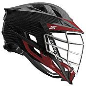 Cascade Custom S Carbon Fiber Lacrosse Helmet w/ White Pearl Mask
