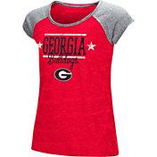 Colosseum Youth Girls' Georgia Bulldogs Red Sprint T-Shirt