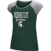 Colosseum Girls' Michigan State Spartans Green Sprint T-Shirt